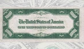 Zeit für ein kleines bisschen wehmut: Die 100 000 Dollar Banknote Der Usa