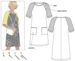 Raglan Sleeve Pattern Adorable Mary Shift Dress Style Arc