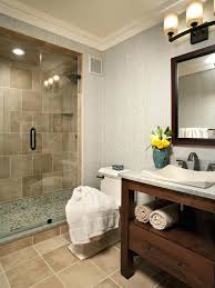 pebble stone shower floor c56250 pebble stone shower floor bathroom contemporary with crown molding dark stained