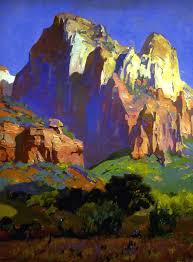desert giants utah franz a bischoff oil on canvas i absolutely love this technique brilliant work