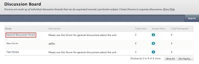 How Do I Post On The Discussion Board In Blackboard Technology