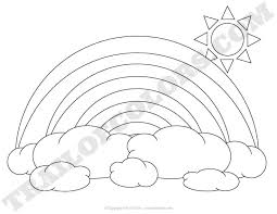 Small Picture Rainbow Coloring Page for Kids Trail Of Colors