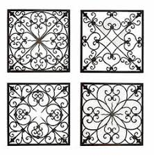 >square metal wall decor wrought iron wall decor pinterest  s 4 tuscan wrought iron scroll wall grille fl de lis