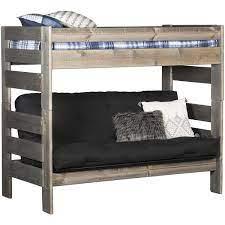 cheyenne driftwood twin over twin futon