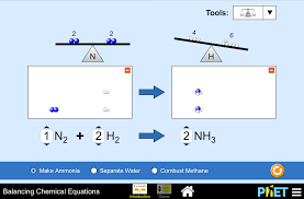 balancing chemical equations screenshot