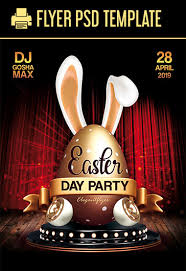 Easter Day Party Free Psd Flyer Template