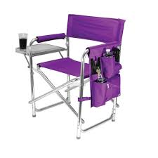 purple sports portable folding patio chair