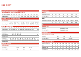 Size Chart Hi Vis Workwear Safety Gear Express