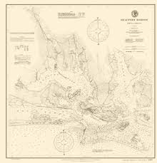 Beaufort Harbor Nc Coastal Chart 1900