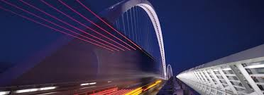artistic lighting. artistic lighting and energy savings for one of the most beautiful modern bridges in italy
