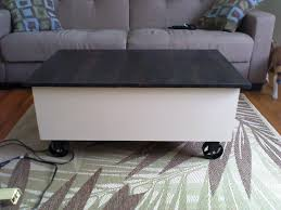 ana white coffee table with storage based on the factory cart coffee table diy projects