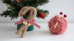 Decorating Christmas Ornaments Balls DIY christmas ornaments yarn ball vintage candy canes YouTube 72