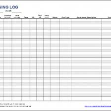 free printable running log logs office excel log template 30550x403 158635550304