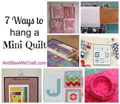 7 Ways to Hang a Mini Quilt - And Sew We Craft & 7 ways to hang a mini quilt Adamdwight.com