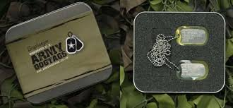 Dog Tag Vending Machine Locations Custom Personalised US Army Dog Tags With Custom Embossed Message