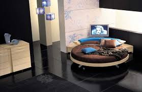 Beautiful Round Bed Ideas That Will Spruce Up Your Bedroom : Contemporary  Leather Round Bed By