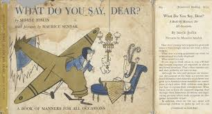 Image result for what do you say dear book