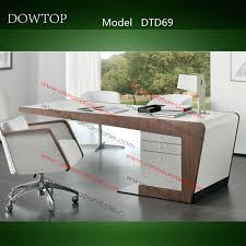 design of office table. dtd085 white modern executive desk office table design of a
