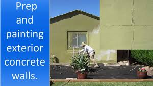 painting exterior concrete walls of a house