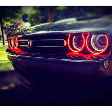 2014 Challenger Lights 2008 2014 Dodge Challenger Surface Mount Led Headlight Halo Kit By Oracle