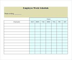 Employee Scheduling Calendar Template Free Weekly Ate Blank Work