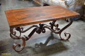 small wooden coffee table best of wrought iron wood dining table fresh wrought iron coffee table