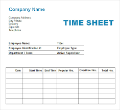11+ Time Log Templates – Pdf, Word | Sample Templates