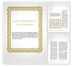 Plantilla De Word Certificado En Blanco 14135 Poweredtemplate Com