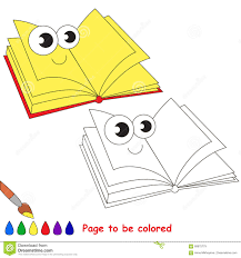 School Items Cartoon Page To Be Colored Stock Vector