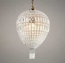 Hot Air Balloon Crystal Pendant