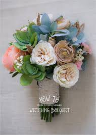 diy wedding flower kits how to make a faux flower bridal bouquet fake wedding flowers