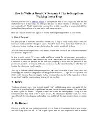 How To Do A Resume Example Write Template Australia Cv Examples