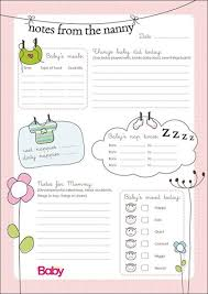 Ask Nanny Development Chart Printable Daily Chart For Nannies Parent24