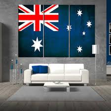 australian flag canvas wall art print flag of australia on canvas large australian flag on large canvas wall art australia with best extra large canvas art products on wanelo