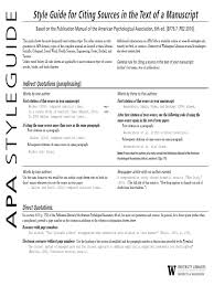 Apa Format Guide Citation Apa Style