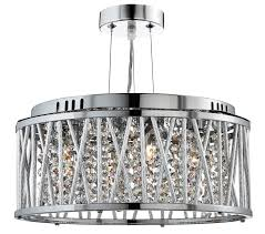 searchlight elise 3 light pendant ceiling light chrome finish with clear crystal drops 8333 3cc