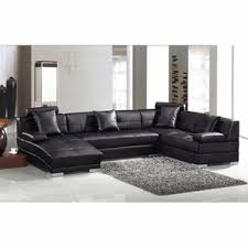 Fine Modern Leather Sectional Sofas Divani Casa 3334 Ultra Bonded On Design Decorating