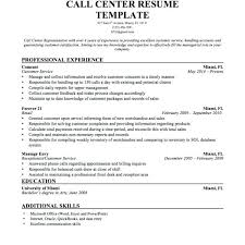 Call Center Resume Examples Trezvost