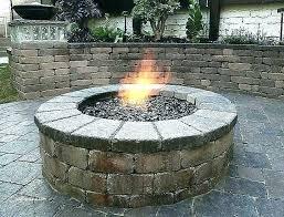 home depot fire pit glass stones fresh blocks ho