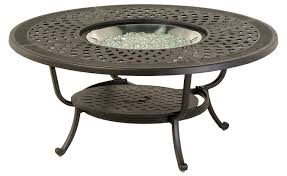 aluminum patio furniture 48 round fire pit table please call for 877 548 5697