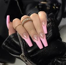 French Tip Stiletto Nail Designs Pin By M On Nails Coffin Nails Designs French Tip Nail