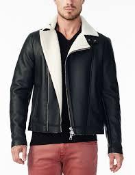 armani exchange asymmetrical faux shearling coat jacket for men a x