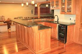bar countertop ideas bar ideas with combination of wooden and stone kitchen idea in brown style
