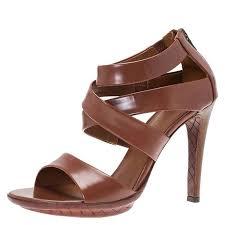 brown leather strappy sandals size 37 nextprev prevnext