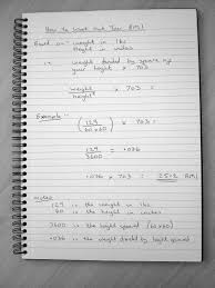 example of formula for how to work out your bmi mass index weight divided