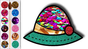 Glitter Coloring Lady Hat Lady Hat Coloring Pages Youtube