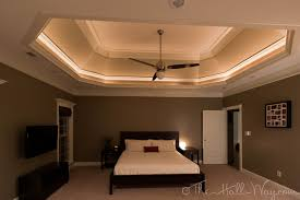 Pleasant Coffered Ceiling Bedroom For Layered Tray In 2. Trim Ideas Tray  Ceiling Lighting