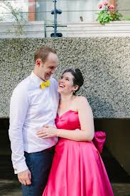 A Pink Candy Anthony Dress For A Colourful Wedding At The Barbican.