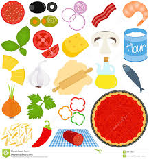 Small Picture Pizza Toppings Clipart Ingredients To Make Pizza PIZZA Pinterest