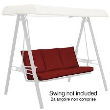 Garden Treasures North Haven Solid Red Swing Cushion Replacement